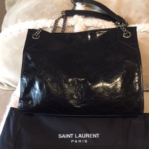 YSL genuine leather bag
